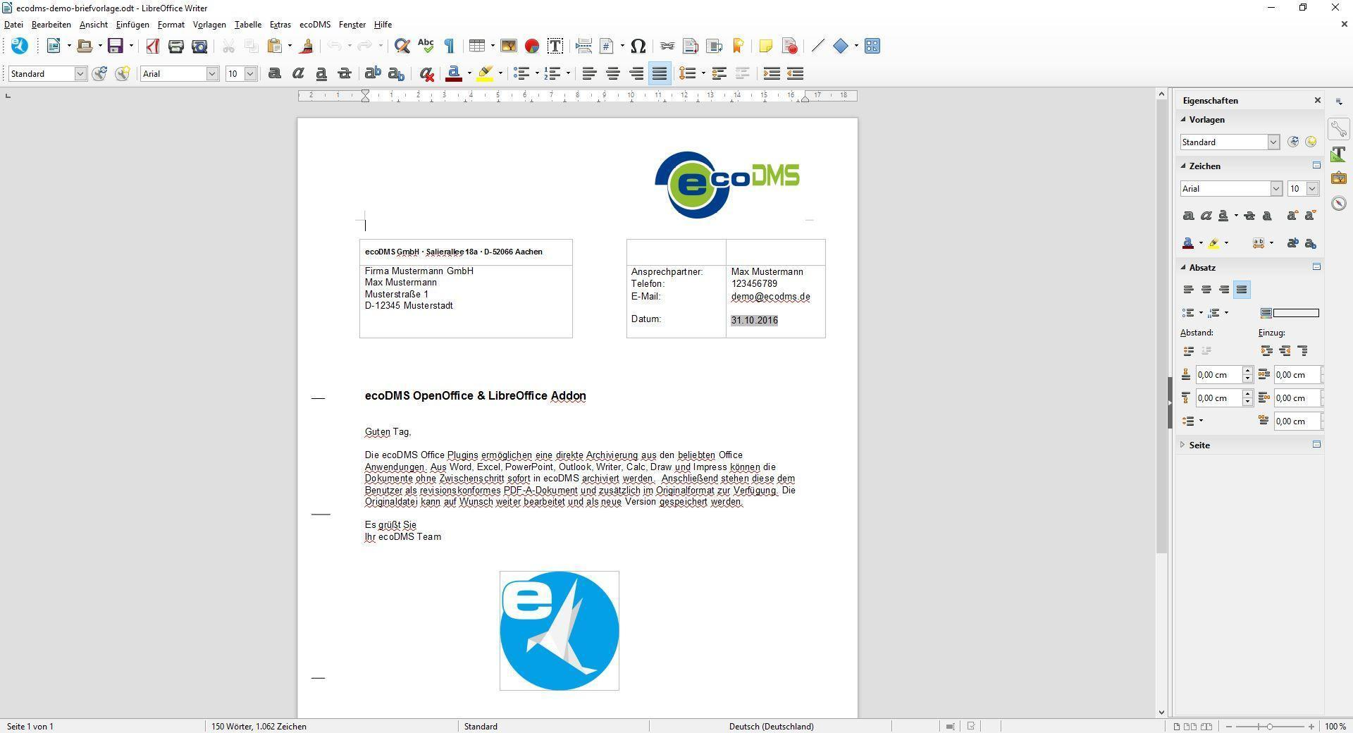 Ecodms Erstklassige Dokumenten Management Software Ebt
